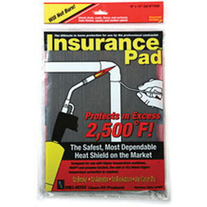 Cleanfit The Insurance Pad® 71036 Heat Shield, 6 in L x 9 in W, 2500 deg F
