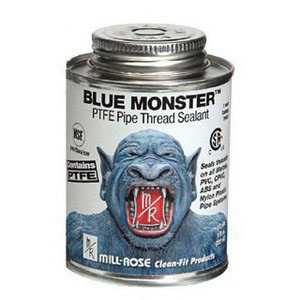 Cleanfit Blue Monster® 76015 Heavy Duty Industrial Grade Thread Sealant, 1 pt Can, Blue