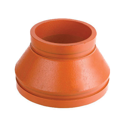 Smith-Cooper® Cooplok™ 65CR3030024 Orange Painted Ductile Iron Concentric Reducer, 3 in x 2-1/2 in, Grooved, Import