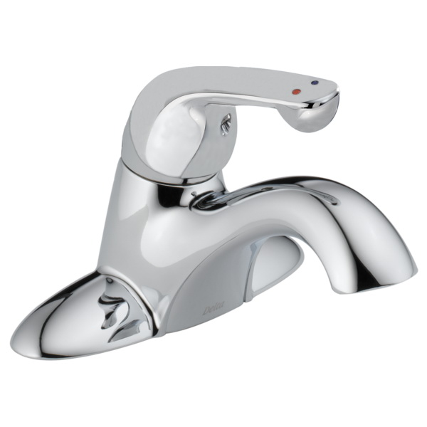 DELTA® 501LF-HDF Chrome Brass Manual Lavatory Faucet, 1/2 in, MNPS
