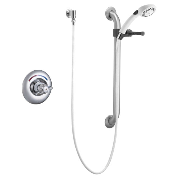 DELTA® T13H153 Chrome Plated Brass Deck Mount Universal Single Handle Shower Trim, 1.5 gpm