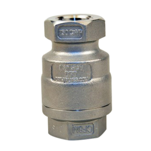 DFT® 316 Stainless Steel Inline Check Valve, NPT, 750 psi, 470 deg F