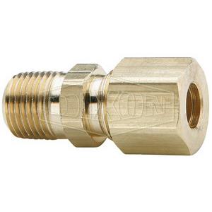 Dixon® 68C-0304 Brass Connector, 3/16 in x 1/4 in, Tube x MNPT
