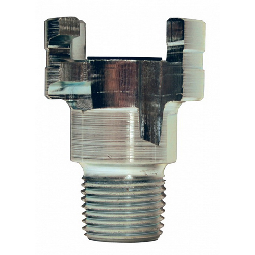 Dixon® Dual-Lock™ P4M4 Trivalent Chrome Steel Thor Interchange Plug, 1/2 in, MNPT