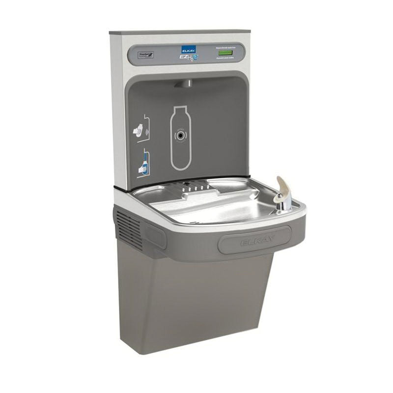 Elkay® LZS8WSLK Light Gray Granite Wall Mount Water Cooler with Bottle Filling Station, 115 V, 6 A, 8 gph