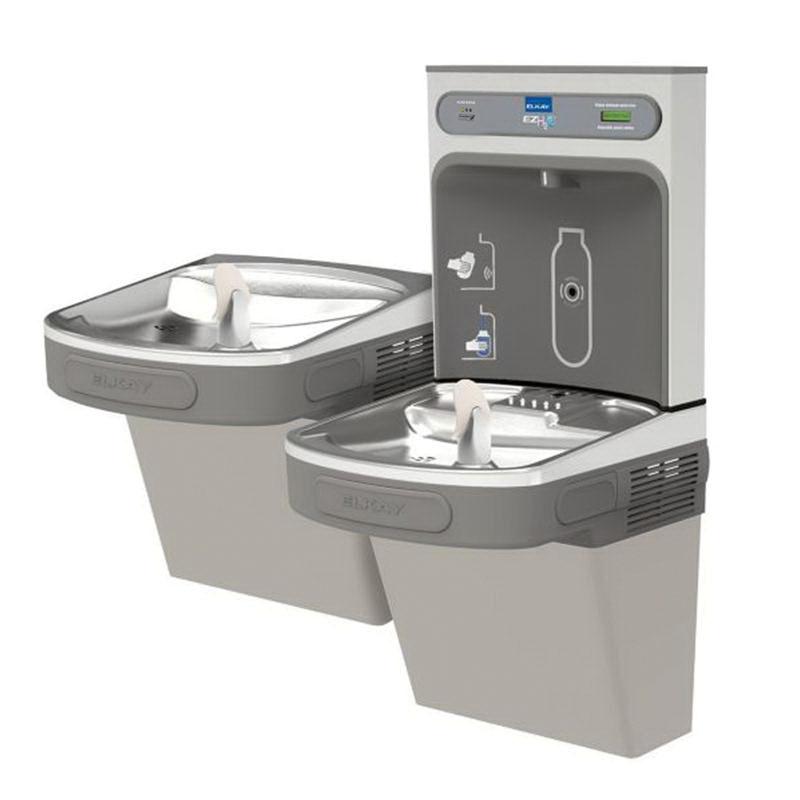Elkay® LZSTL8WSLK Light Gray Granite Wall Mount Water Cooler with Bottle Filling Station, 115 V, 6 A, 8 gph