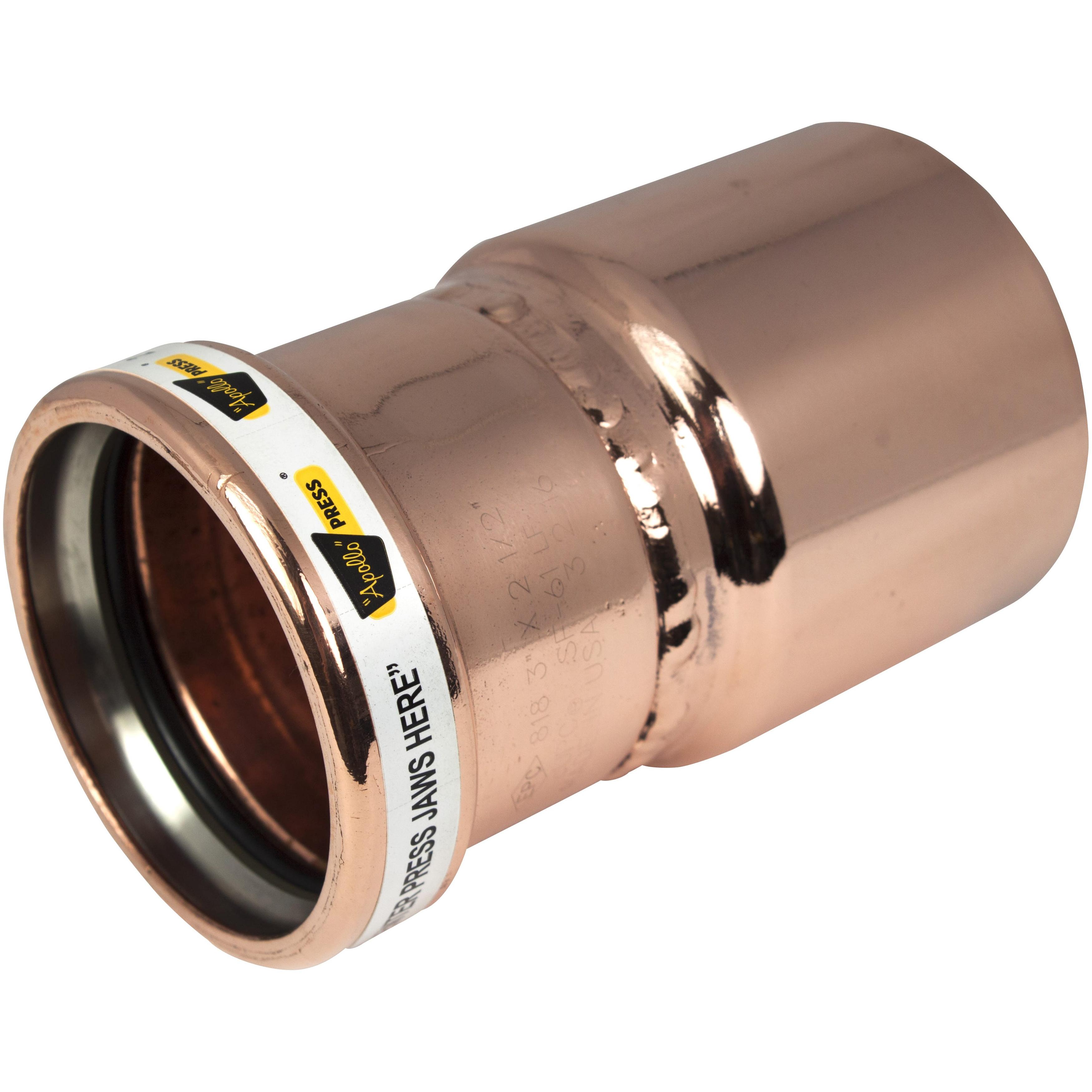 EPC Apollopress® 10057506 Copper Large Diameter Press Reducer, 4 in x 3 in, Fitting x Copper, Domestic