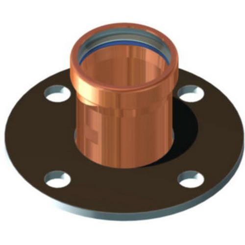 EPC Apollopress® 10075702 Powder Coated/Black Copper Class 125 Small Diameter Companion Flange, 2 in, Press