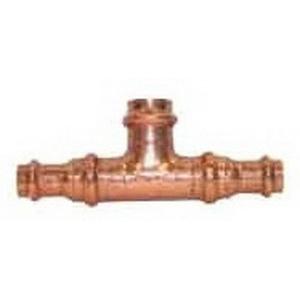 EPC Apollopress® 10066071 Copper Small Diameter Bull Head Tee, 3/4 in x 3/4 in x 1 in, Copper
