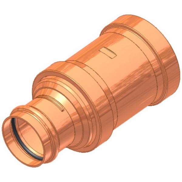 EPC Apollopress® 10066076 Copper Press Large Diameter Reducer Coupling, 3 in x 2-1/2 in, Copper