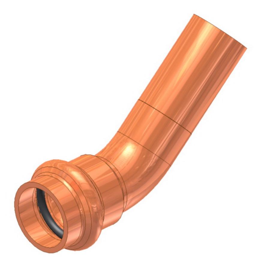 3 Round 45 degree copper corrugated Elbow