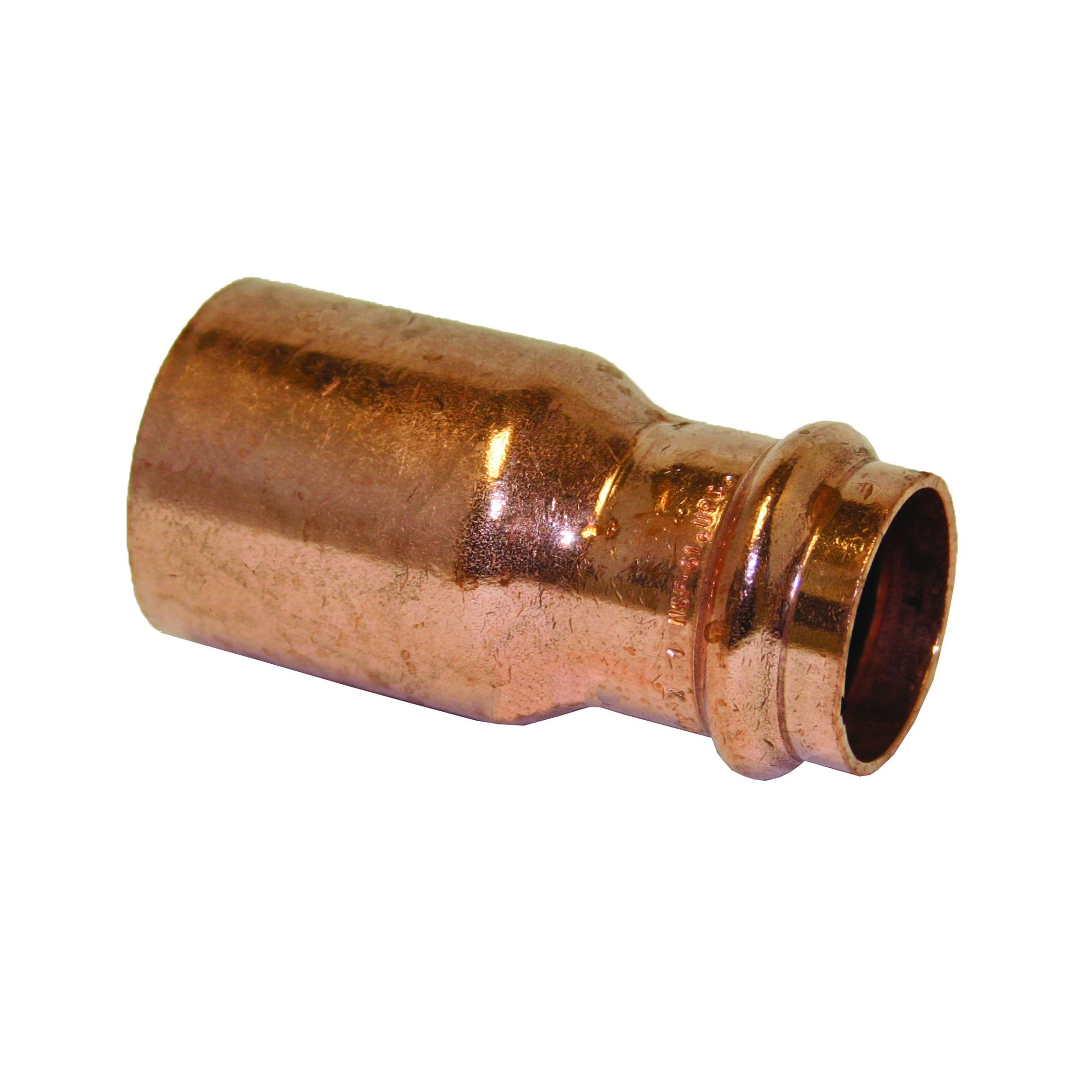EPC Apollopress® 10075152 Copper Small Diameter Press Reducer, 2 in x 1-1/4 in, Fitting x Copper, Domestic