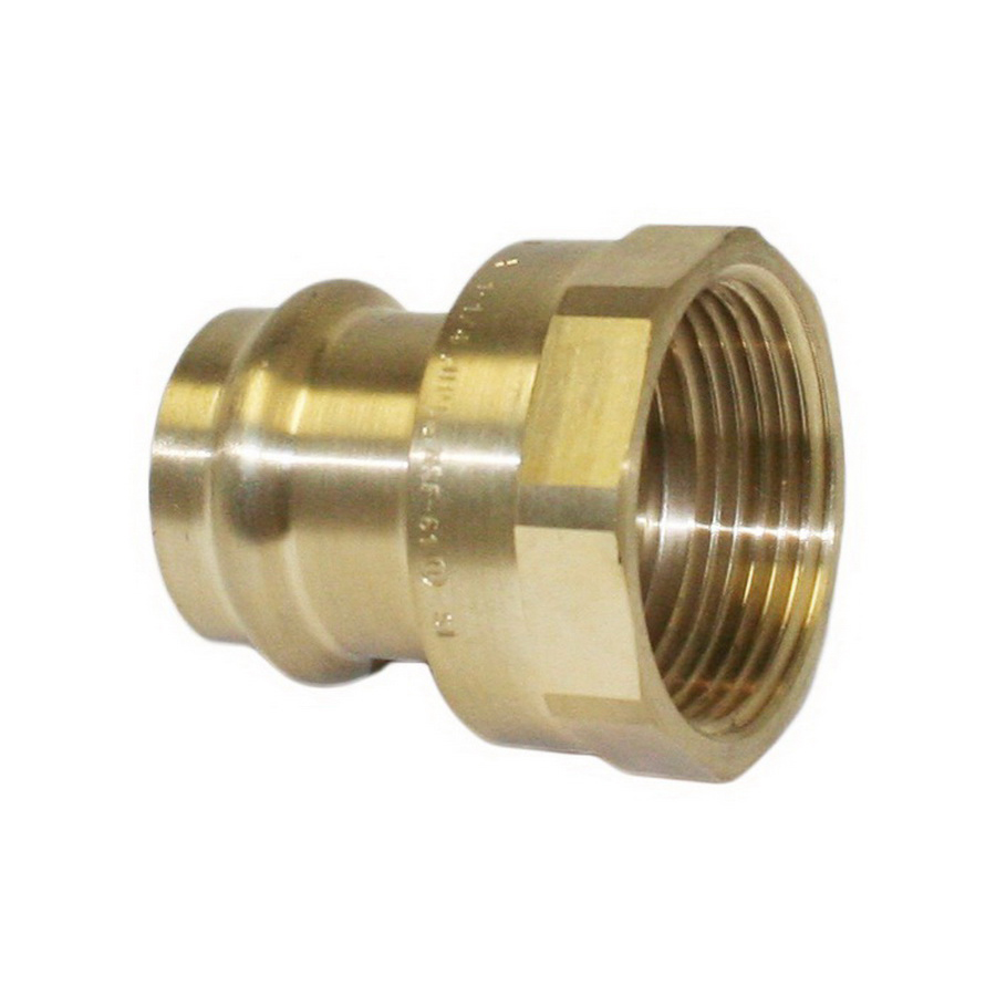 EPC Apollopress® 10075796 Brass Small Diameter Reducing Adapter, 1 in x 1/2 in, Copper x FNPT, Domestic
