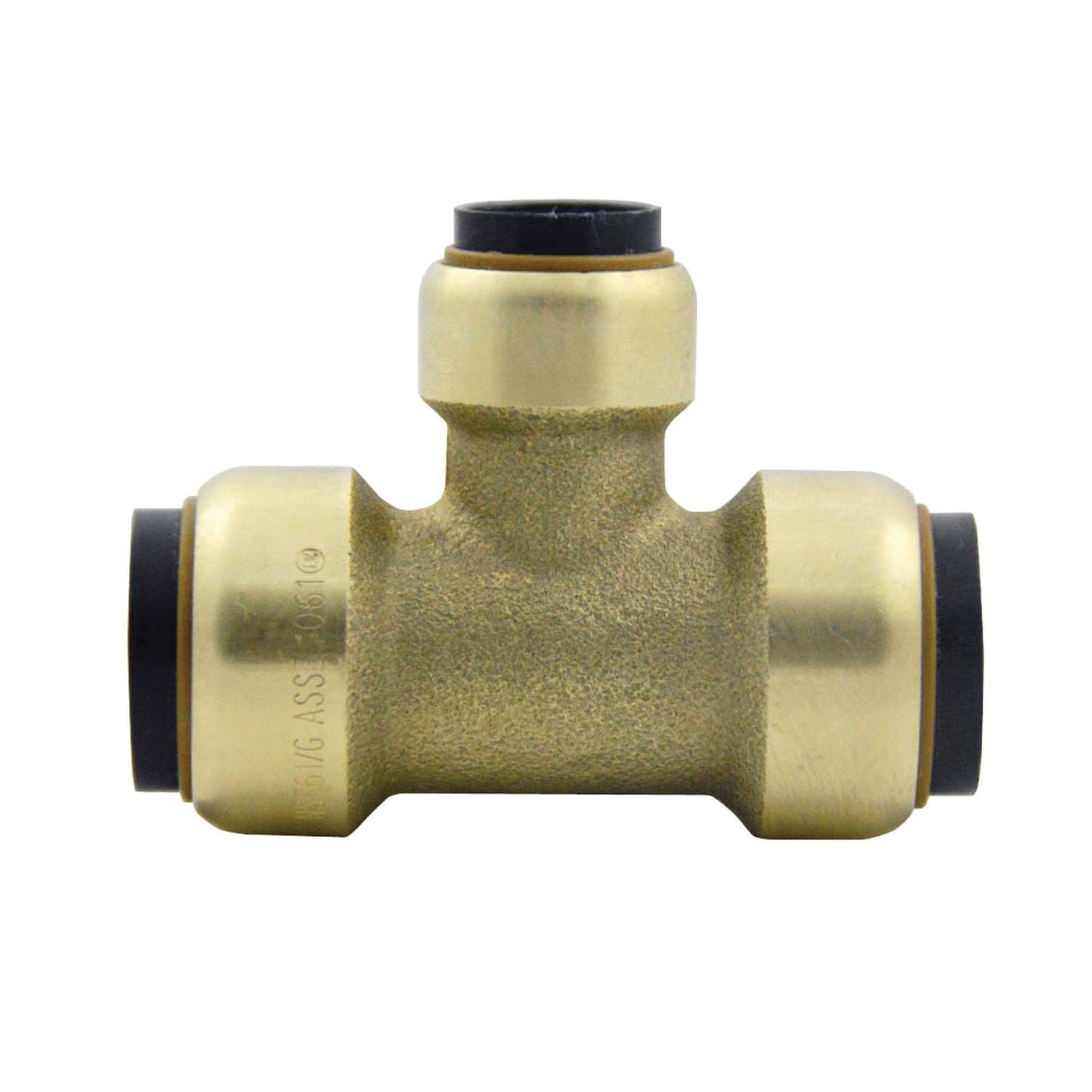 EPC TECTITE™ 10155494 Brass Reducing Push Tee, 3/4 in x 3/4 in x 1/2 in, Copper
