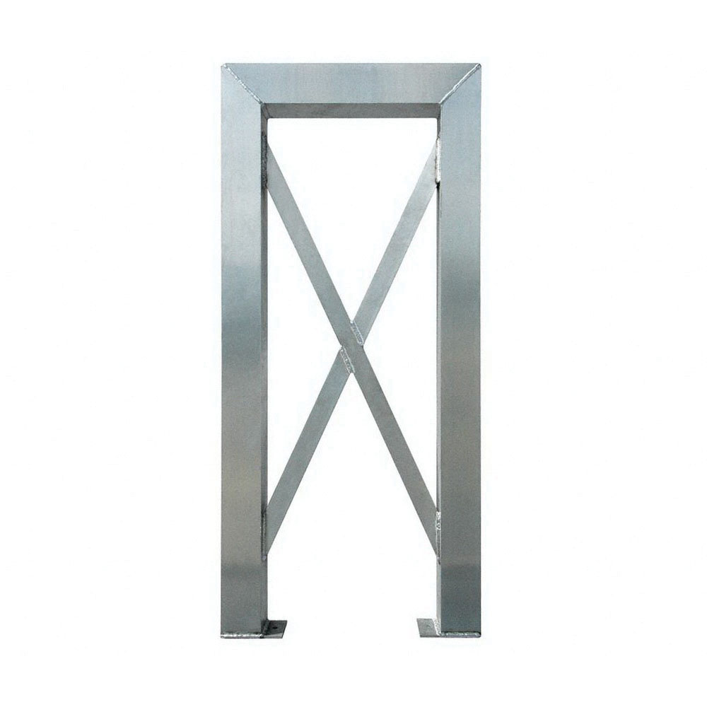 ErectaStep® 11383 Aluminum 6-Step Tower Support for 11394 Platform Unit, 26 in L x 4 in W x 57 in H, 50 lb