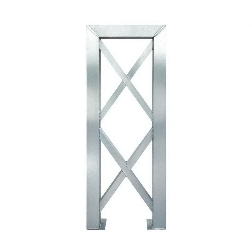 ErectaStep® 11384 Aluminum 7-Step Tower Support for 11394 Platform Unit, 26 in L x 4 in W x 66 in H, 50 lb