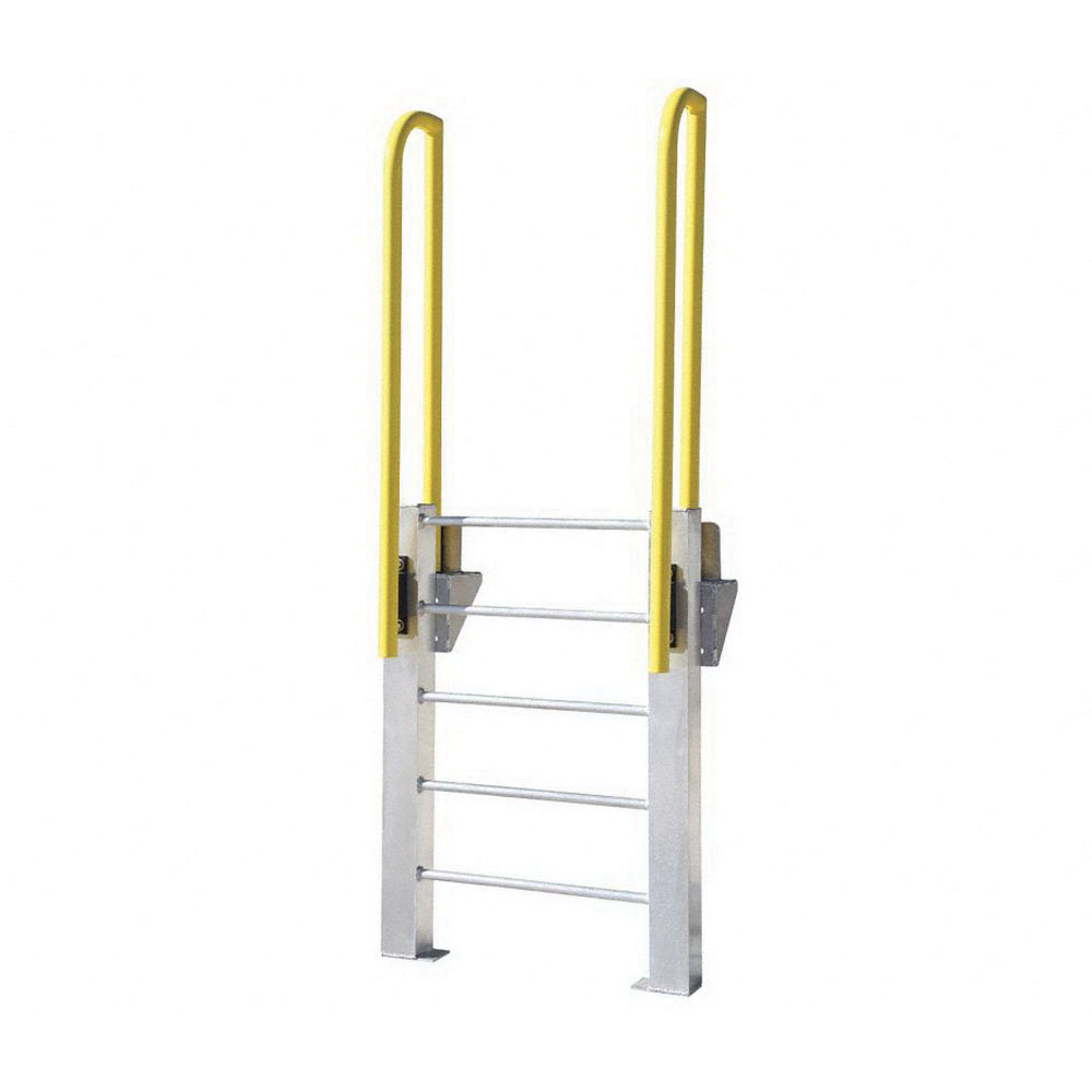 ErectaStep® 11460 Aluminum Fixed Ladder, 45 in H, 4 Step, 1000 lb