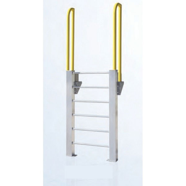 ErectaStep® 11461 Aluminum Fixed Ladder, 54 in H, 5 Step, 1000 lb
