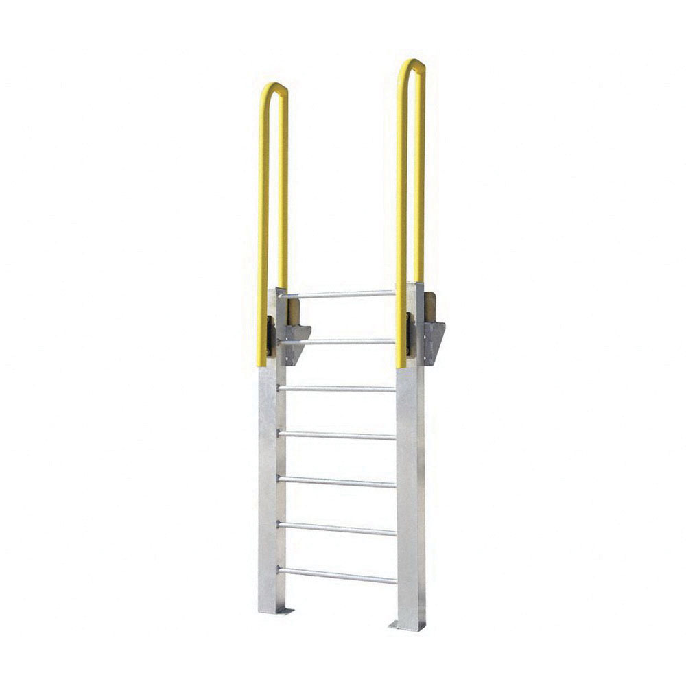 ErectaStep® 11462 Aluminum Fixed Ladder, 63 in H, 6 Step, 1000 lb