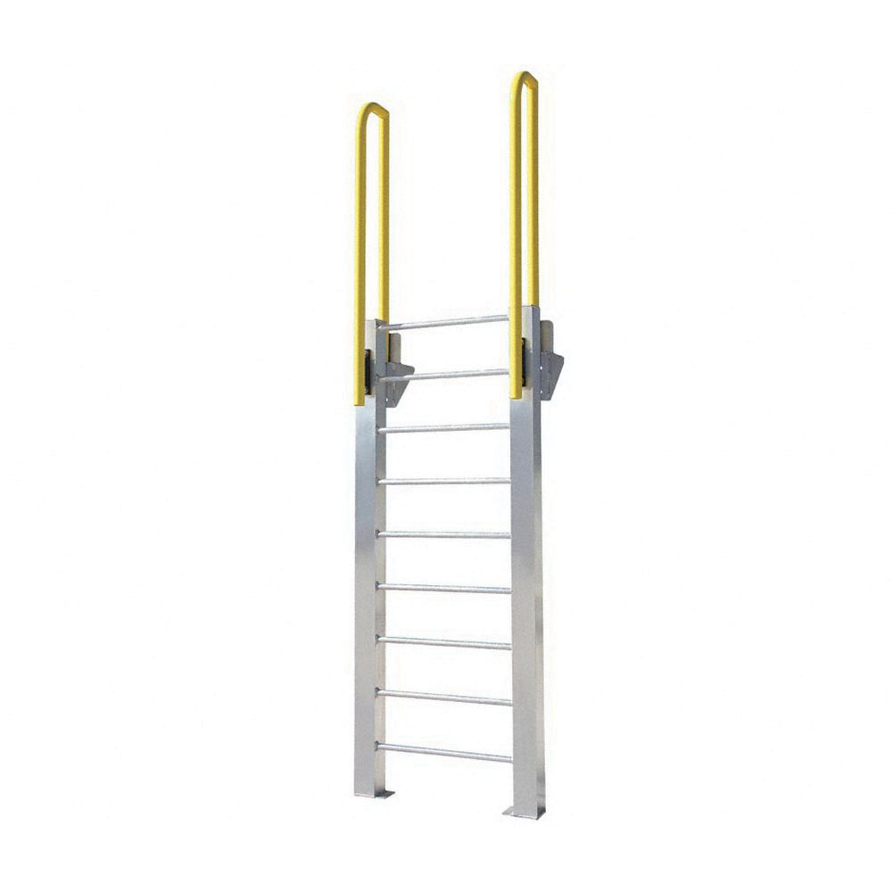 ErectaStep® 11464 Aluminum Fixed Ladder, 81 in H, 8 Step, 1000 lb