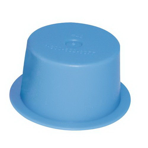 ESSENTRA 022A Blue LDPE Protective Push Fit Tapered Plug/Cap, 3/4 in