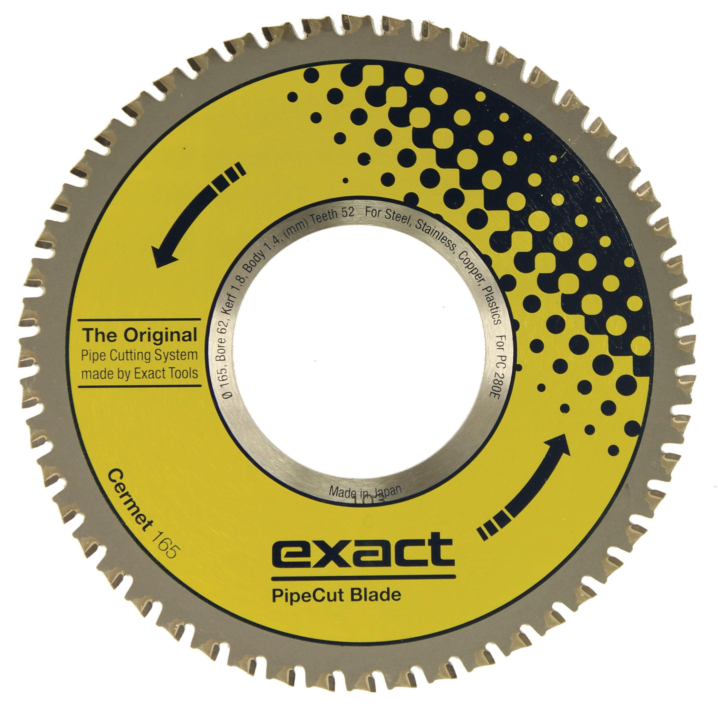 Exact Tools Cermet 165 Circular Saw Blade, 6-1/2 in Dia, 1.8 mm Kerf