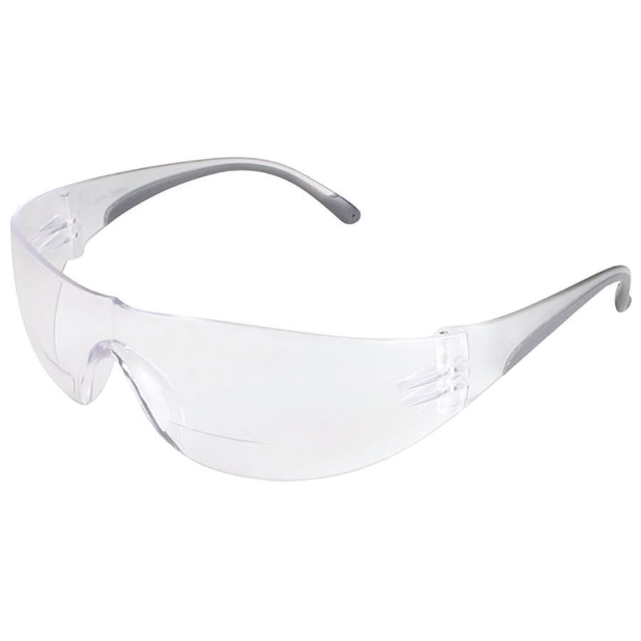 Global Vision® AMBASSADOR CL Polycarbonate Safety Glasses, Gloss Black Frame/Clear Lens, Unisex