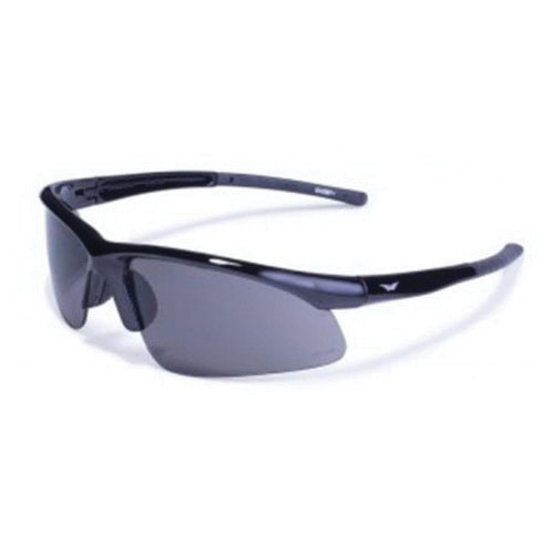 Global Vision® AMBASSADOR SM Polycarbonate Safety Glasses, Gloss Black Frame/Smoke Lens, Unisex