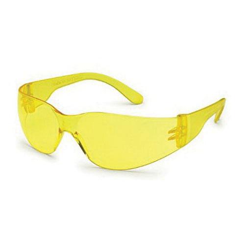Global Vision® AMBASSADOR YT Polycarbonate Safety Glasses, Gloss Black Frame/Yellow Lens, Unisex