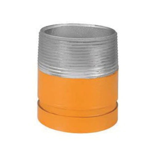 Grinnell® 75123 Orange Non-Lead Painted Carbon Steel SCH 40 Fabricated Adapter Nipple, 2 in x 4 in, Grooved x MNPT