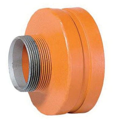 Grinnell® 76809 Orange Non-Lead Painted Carbon Steel SCH 40 Fabricated Concentric Reducer, 4 in x 2 in, Grooved x MNPT