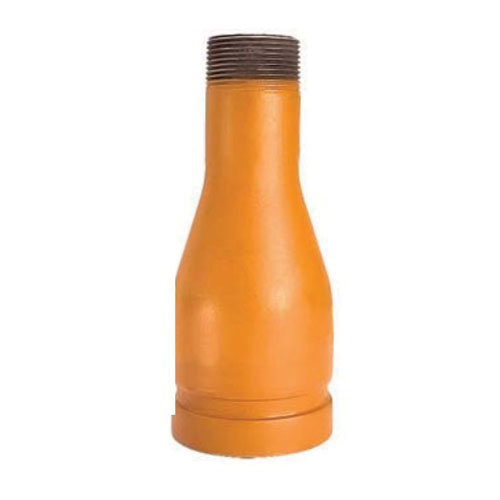 Grinnell® 77011 Orange Non-Lead Painted Carbon Steel SCH 40 Swaged Nipple, 3 in x 2 in, 8 in L, Grooved x MNPT