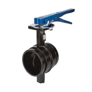Grinnell® Model B303 Rilson Pine Powder/Black Ductile Iron Butterfly Valve, Grooved, 300 psi, -30 to 230 deg F
