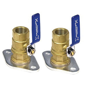Grundfos 96806130 Lead Free Bronze Dielectric Isolation Valve Set for UP26-96F, UP26-99BF and UP26-99F Series Circulator Pumps