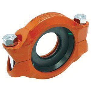 Gruvlok® 0390009389 Red Rust Inhibiting Painted Ductile Iron Reducing Coupling, 3 in x 2-1/2 in, Grooved