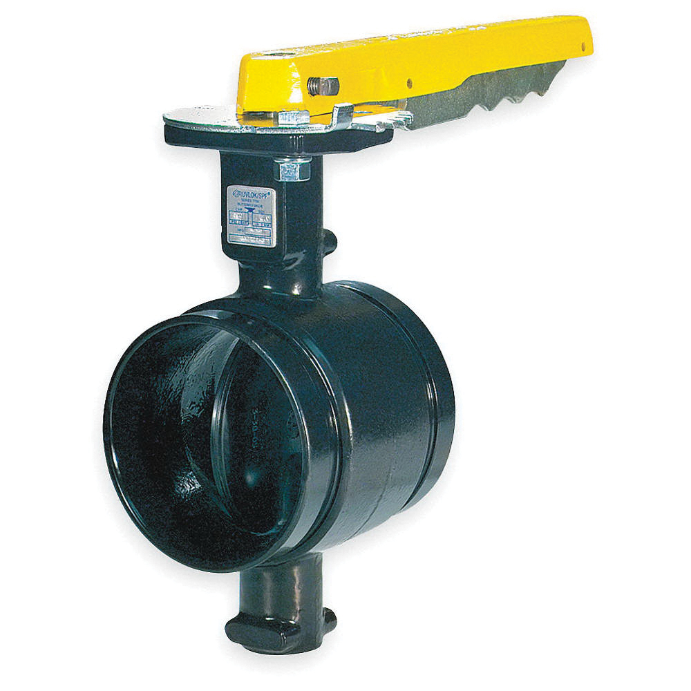 Gruvlok® Series 7700 Nylon Coated Ductile Iron Butterfly Valve, Grooved, 300 psi, -40 to 230 deg F