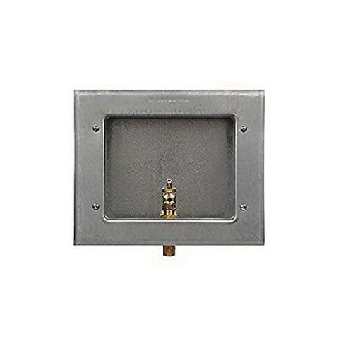 Guy Gray™ 88158 Hot Dip Galvanized Gray Steel Ice Maker Outlet Box, 1/2 in x 1/4 in, FIP x Compression