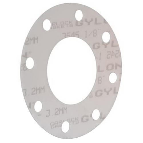 GYLON® 3545 White Microcellular PTFE Class 150 Full Face Gasket, 4 in