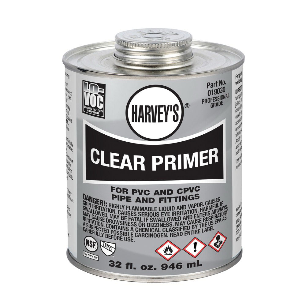 Harvey® 019030-12 Professional Grade Primer, 1 qt Can, Clear