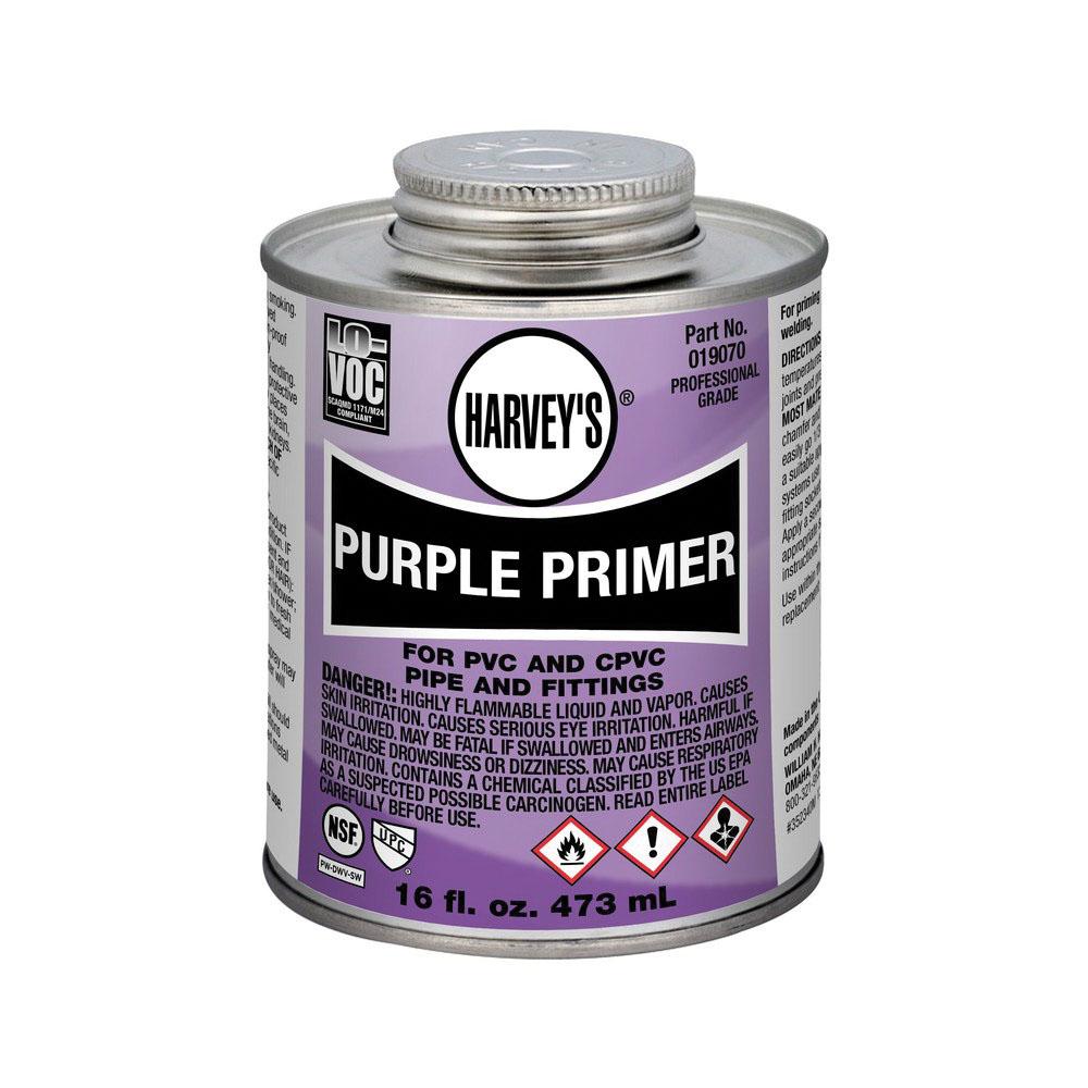 Harvey® 019070-12 Professional Grade Primer, 1 pt Can, Purple
