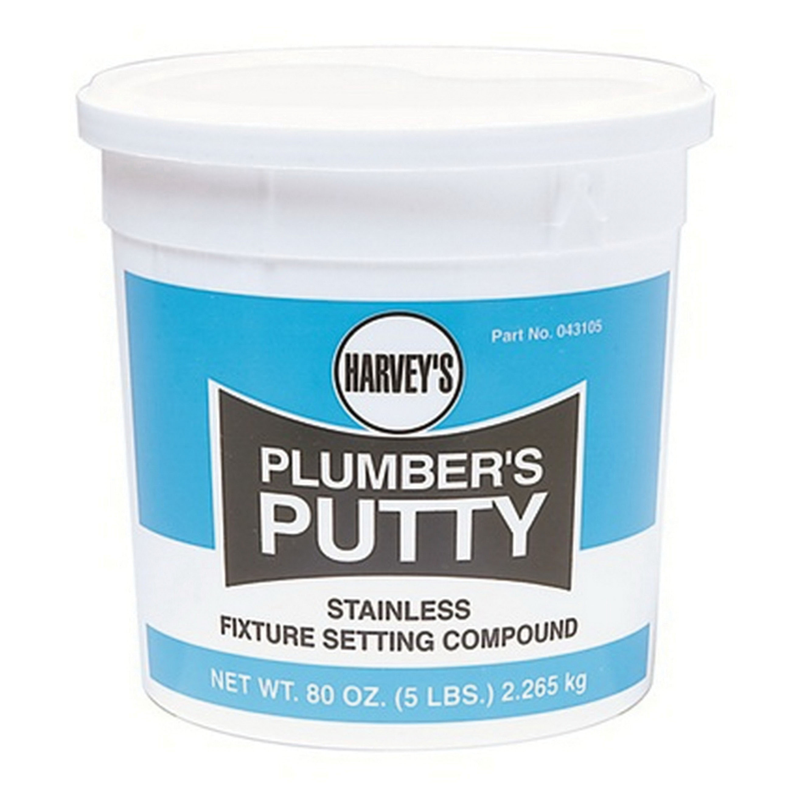 Harvey® 043105 Professional Grade Plumbers Putty, 5 lb, Off white