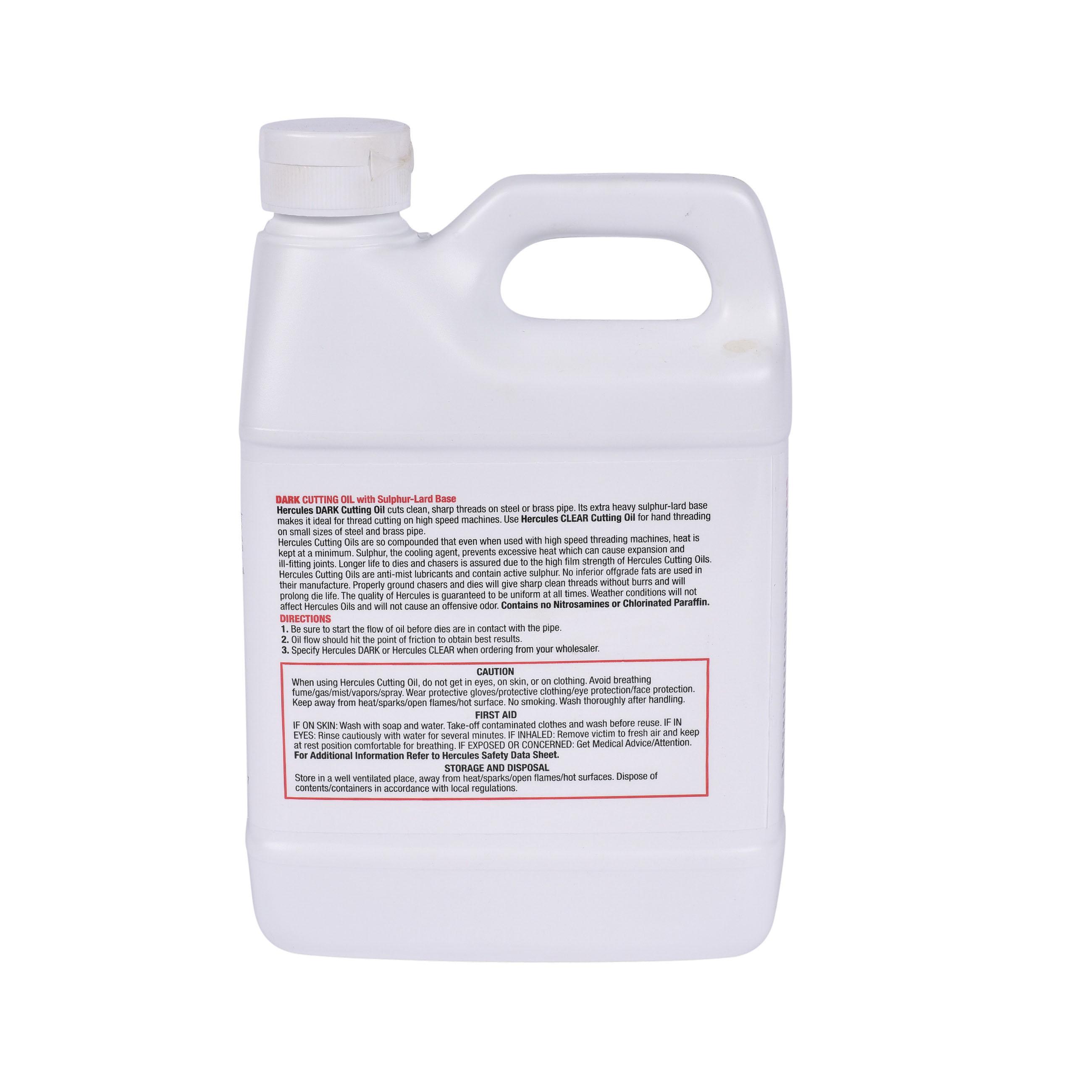 Hercules® 40215 Cutting Oil, 1 qt Can, Dark Brown