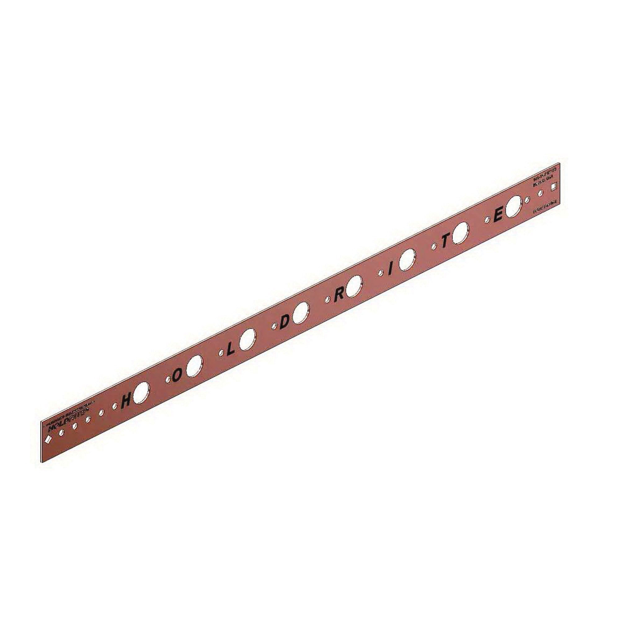 Holdrite® 101-26 Copper Bonded Cold Rolled Steel Flat Bracket, 1/2 in CTS, 26 in L