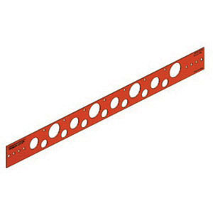 Holdrite® 107-26 Copper Bonded Cold Rolled Steel Flat Bracket, 1/2 - 1-1/4 in CTS, 26 in L