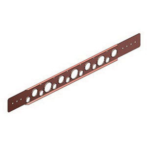 Holdrite® 108-26 Copper Bonded Cold Rolled Steel Flat Bracket, 1/2 - 1 in CTS, 26 in L