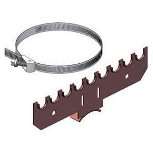Holdrite® 110-S-1/2 Copper Bonded Cold Rolled Steel Bracket, 1/2 in CTS, 9-1/4 in L