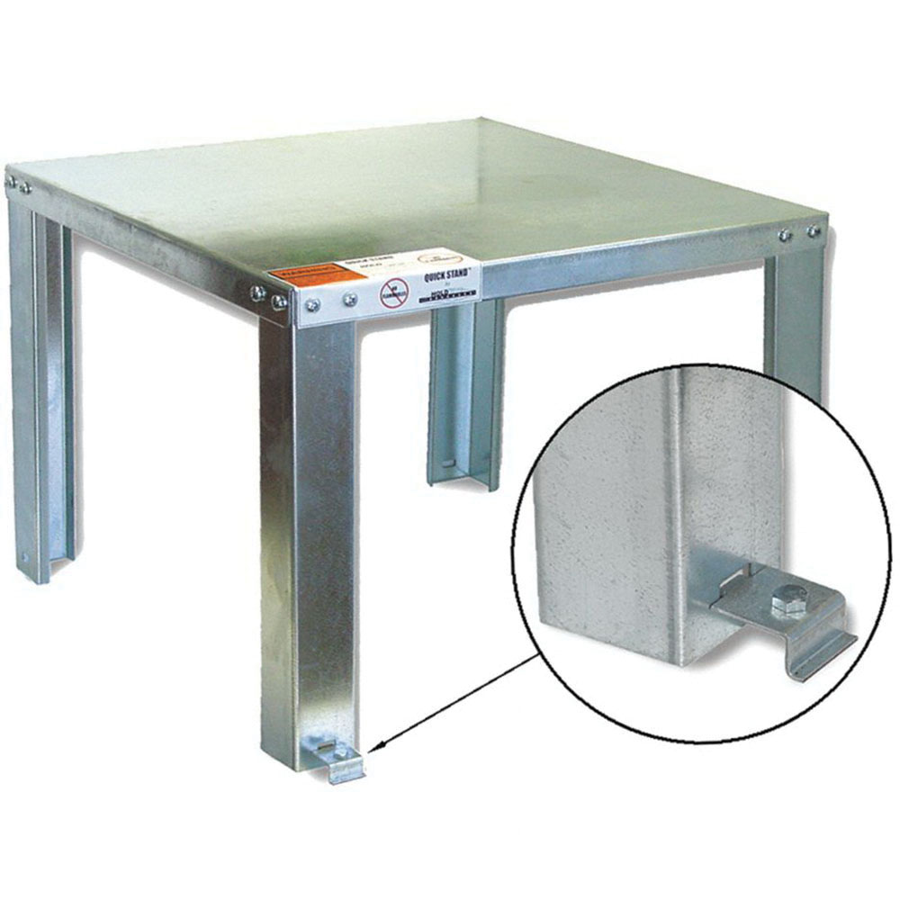 Holdrite® Quick Stand™ 40-S-24-U Galvanized Steel Square Stand for Up to 1200 lb Water Heater and Equipment