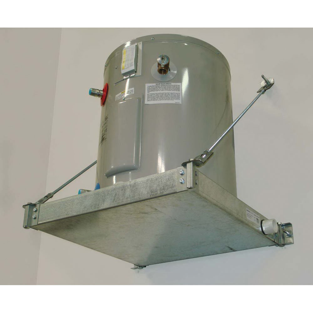 Holdrite® Quick Stand™ 50-SWHP-WM Galvanized Steel Wall Hung Platform for Up to 600 lb Water Heater and Equipment
