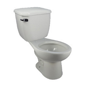 HYDRAPRO HPAETB128 White Elongated Toilet Bowl, 12 in Rough-In, 1.28 gpf