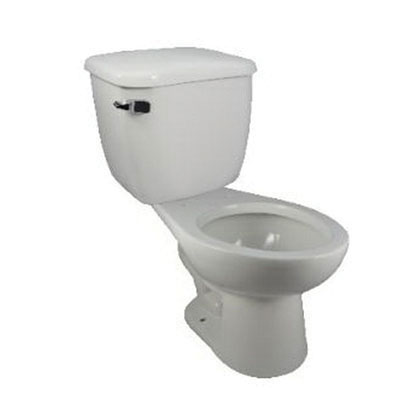 HYDRAPRO HPTT128 White Left Hand Lever Toilet Tank, 1.28 gal, 12 in Rough-In